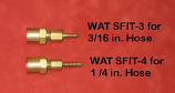 """Adapter: if you don't have B fittings. This 1/4"""" Barb to Female CGA """"B converts your feeder to standard """"B"""". See Photo C1 below."""